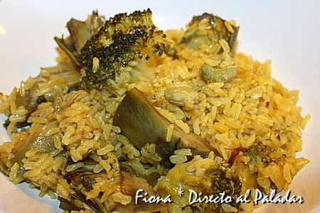 Arroz integral con verduras al curry. Receta