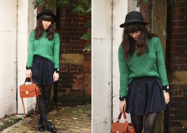 Verde negro look