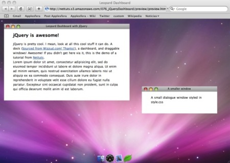 Simulación web de Mac OS X Leopard