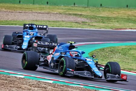 Ocon Alonso Imola F1 2021