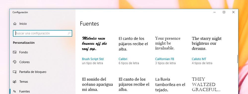 Cómo Ver Las Fuentes Instaladas Quitar Y Añadir Más Con El Nuevo Menú De Windows 10