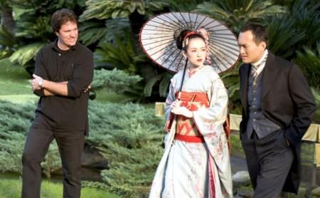 Rob Marshall en el rodaje de Memorias de una Geisha