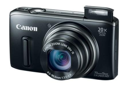 canon sx260hs zoom abierto