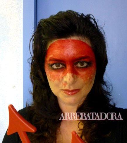 maquillaje de halloween diabla - Maquillaje Diablesa