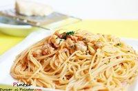 Receta de espaguetis con berberechos y gambas