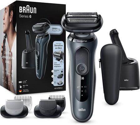 Oferta del día en la afeitadora Braun Series 6 60-N7650cc, especial para pieles sensibles, que hasta medianoche cuesta 159,99 euros en Amazon