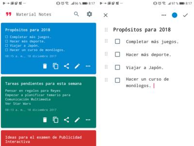 Material Notes: un robusto editor de texto offline con todo lo necesario para tomar notas
