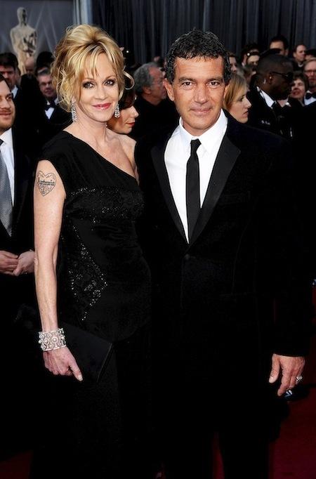 Antonio y Melanie en los oscars 2012