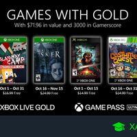 Juegos de Xbox Gold gratis para Xbox One y 360 de octubre 2020