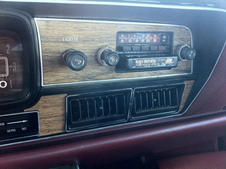 1978 Amc Matador Sedan Red Nc Detail Of Factory Am Fm Stereo 8 Track Unit