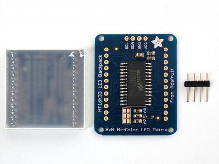 Como veis necesitaremos hacer 28 soldaduras para conectar el display al interfaz y los pines de conexión al interfaz I2C