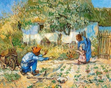 """""""Los primeros pasos"""" de Van Gogh, una tierna escena familiar"""
