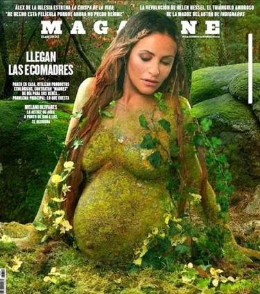 Melani Olivares, verde que te quiero verde y presumiendo de embarazo