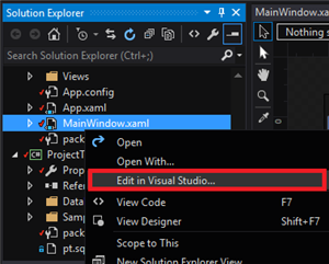 Edit Visual Studio
