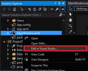 Edit Visual Studio