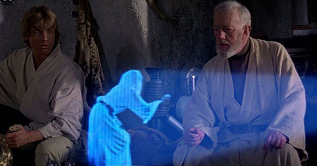 holograma leia