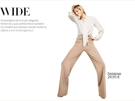 pantalones anchos H&M