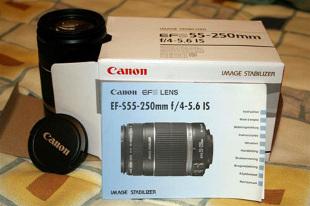 Desempaquetado: Canon EF-S 55-250mm IS