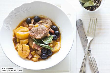 Solomillo de cerdo con aceitunas y Oporto, receta para mojar mucho pan