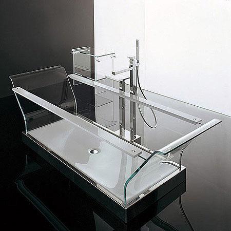 Una bañera de ensueño: totalmente transparente