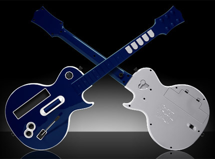 Guitarras de colores personalizados para 'Guitar Hero'