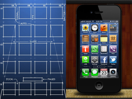 Fondo para el iPhone blueprint