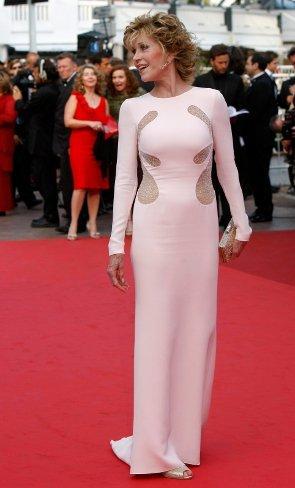 Jane Fonda en la premiere de Sleeping Beauty en Cannes 2011
