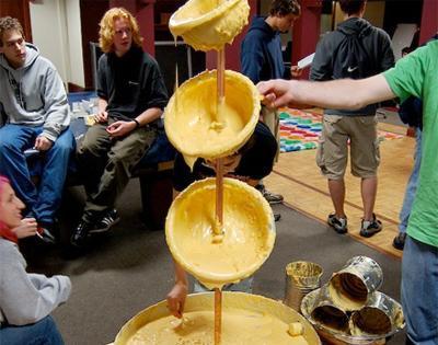 Fuente de queso para nachos