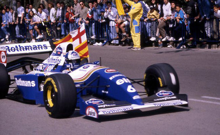 David Coulthard y su visita a Montjuïc con Williams en 1995