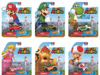 Llega una nueva serie coleccionable de autos Hot Wheels de Mario Bros.