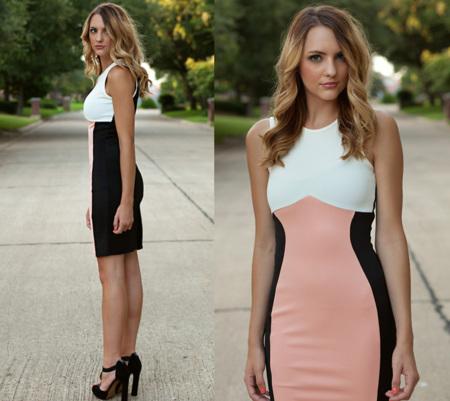 ¿Tienes ya tu vestido con rayas negras laterales para estilizar la figura?