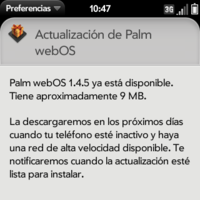 webOS 1.4.5, una actualización de cuestionable efectividad disponible en España