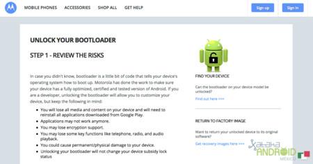 Unlock your bootloader Motorola