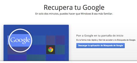 Google también quiere estar en Windows 8