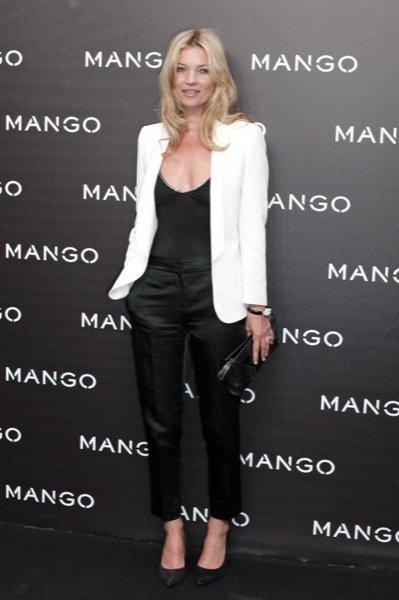 Kate Moss blanco y negro
