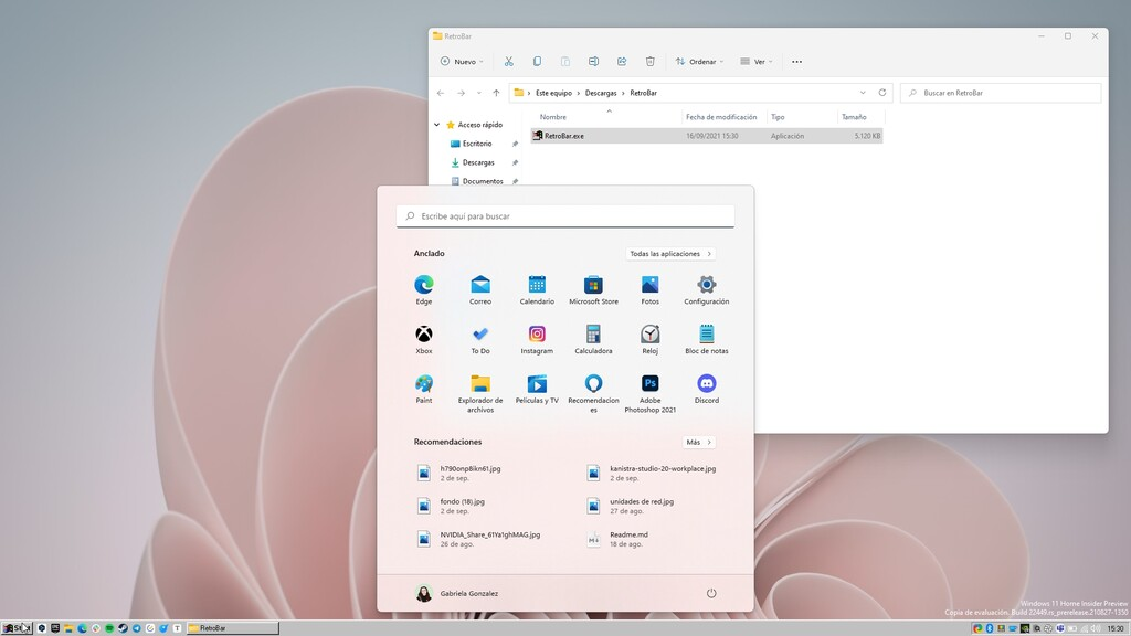 RetroBar te transporta al pasado reemplazando la barra de tareas en Windows 10 y 11 por la clásica de Windows 95 o XP