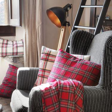 El tartán está de moda y la colección de textiles Muy Mucho lleva a tu casa un trocito de las Highlands