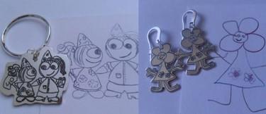 Kidsdoo, joyas de plata con el dibujo de tus hijos