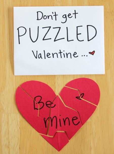 Manualidades San Valentin Puzzles Mensaje