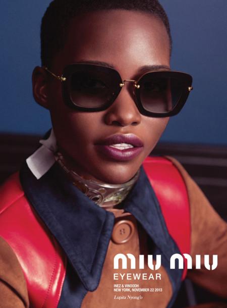Miu Miu campaña eyewear Primavera-Verano 2014 Lupita Nyong