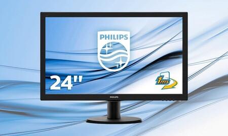 ¿Buscas monitor económico? En Amazon tienes el equilibrado Philips 243V5LHSB/00 por sólo 84,90 euros