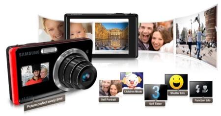 Samsung ST500 y ST550, para qué sirve la pantalla delantera