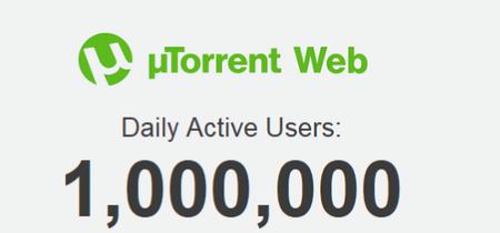 El recién lanzado uTorrent Web ya tiene más de un millón de usuarios activos al día