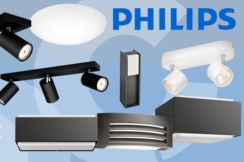 Ilumina tu hogar y jardín con estas ofertas de Amazon en focos y apliques de Philips