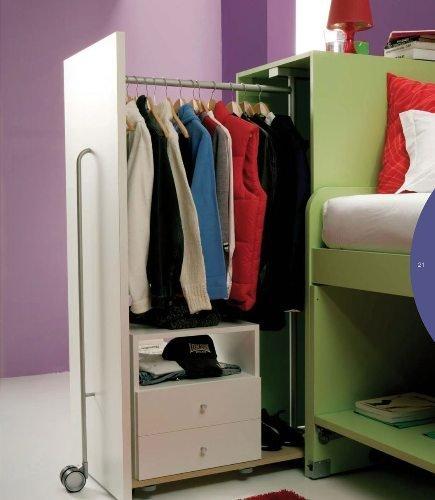 Soluciones para dormitorios juveniles con poco espacio - Armarios para espacios pequenos ...