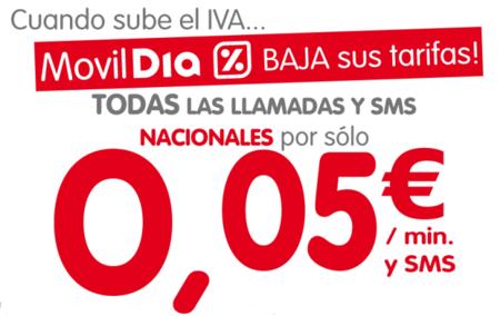 MóvilDía rebaja su tarifa básica ofreciendo los SMS más baratos
