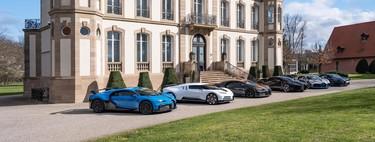 Esta foto vale más de 33 millones de euros: toda la gama Bugatti y sus 9.200 CV