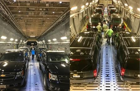 Así transporta el Servicio Secreto a 'La Bestia' de Trump (y a su séquito) hasta Asia