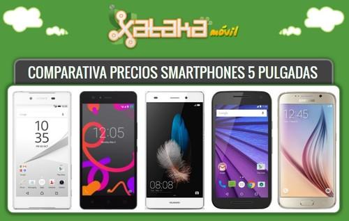 47 smartphones de 5 pulgadas comparados según su precio libre y a plazos con operadores