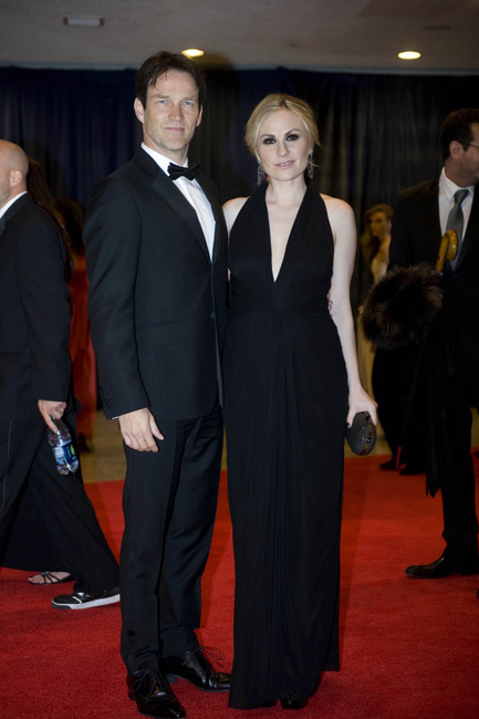 Anna Paquin y Stephen Moyer white house
